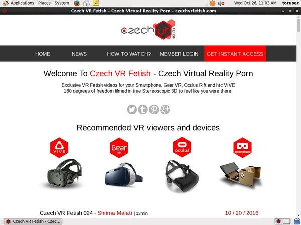 Czechvrfetish.com Password