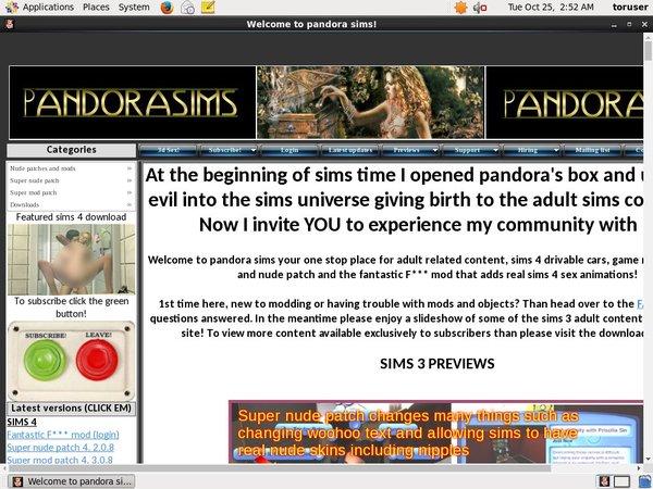 Pandora Sims Pwds