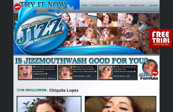 Jizzmouthwash With European Credit Card