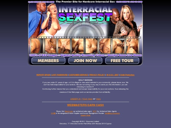 Interracial Sex Fest Discount Offer