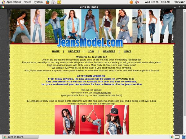Account Free Jeansmodel.com