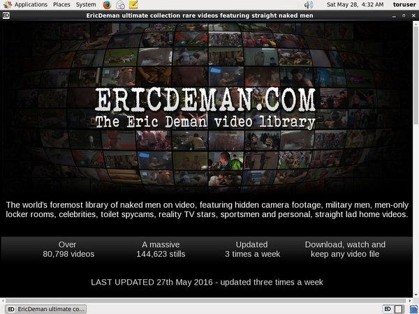 User Pass Ericdeman.com